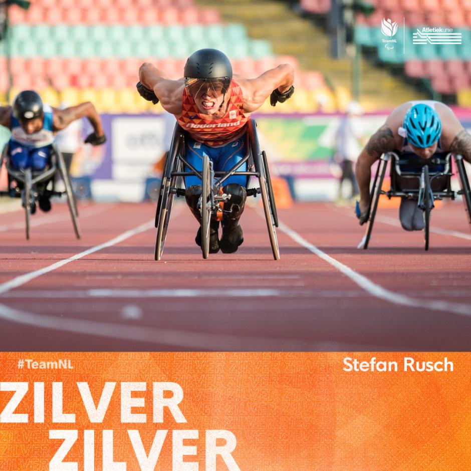 Stefan Rusch wint zilver