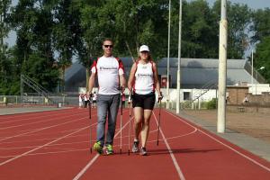 Nordic Walking met buddie